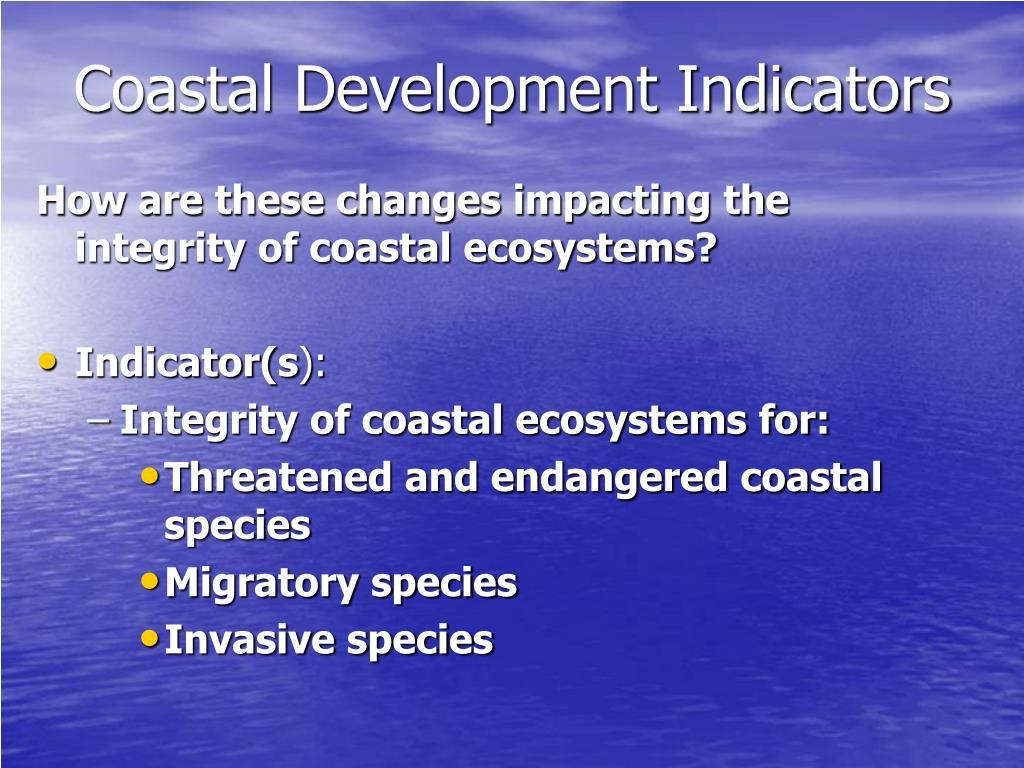 Coastal Development Indicators