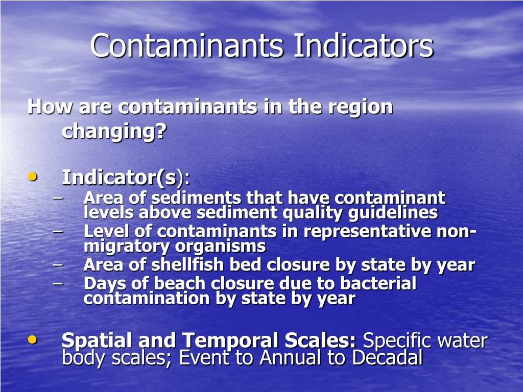 Contaminants Indicators