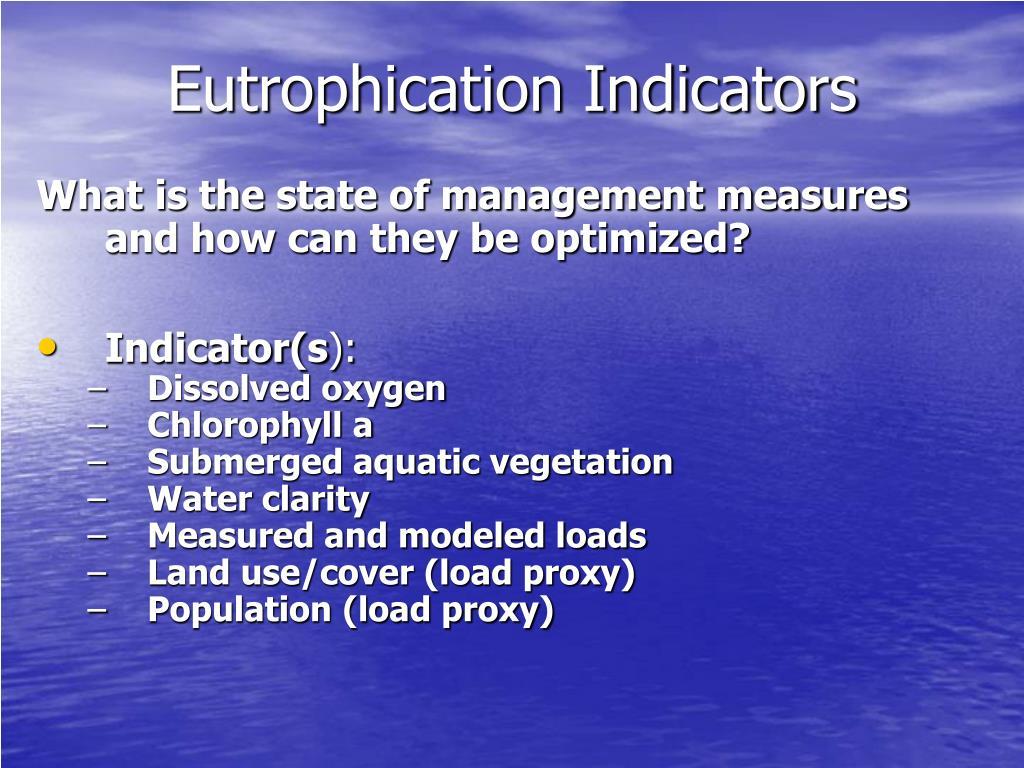 Eutrophication Indicators