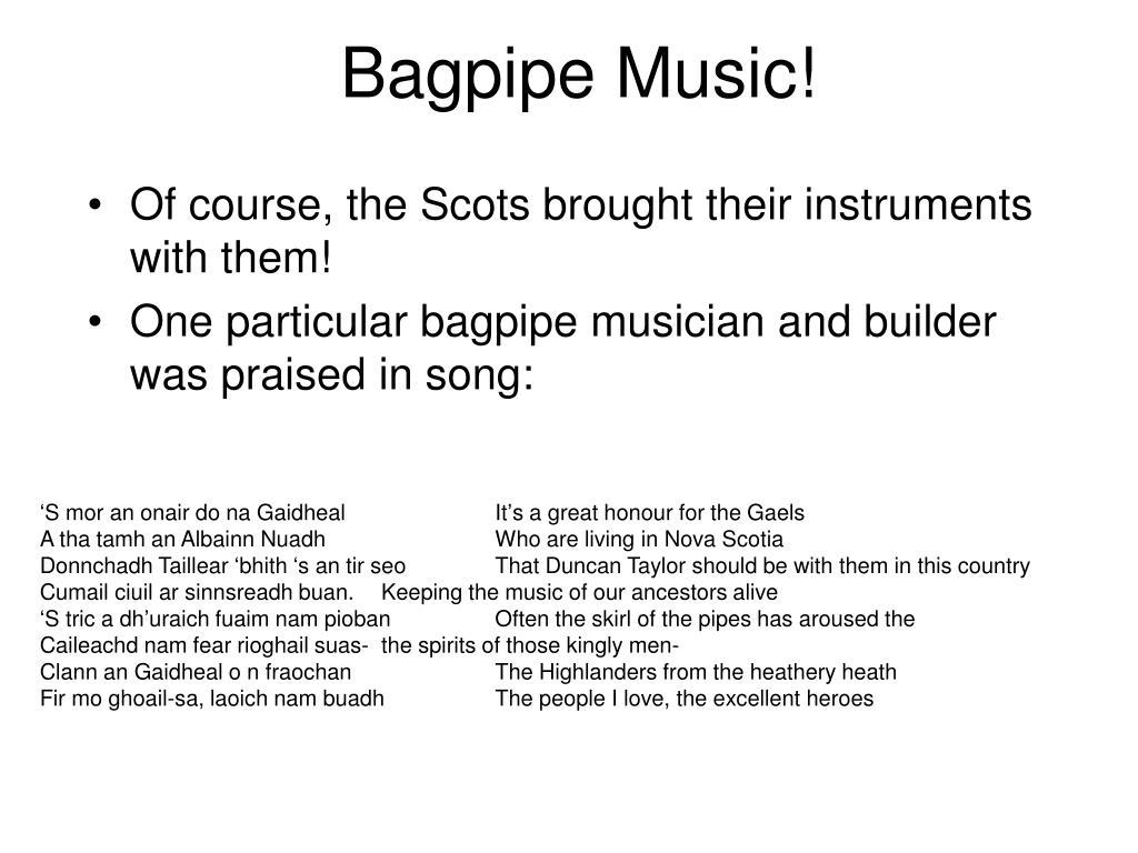 Bagpipe Music!