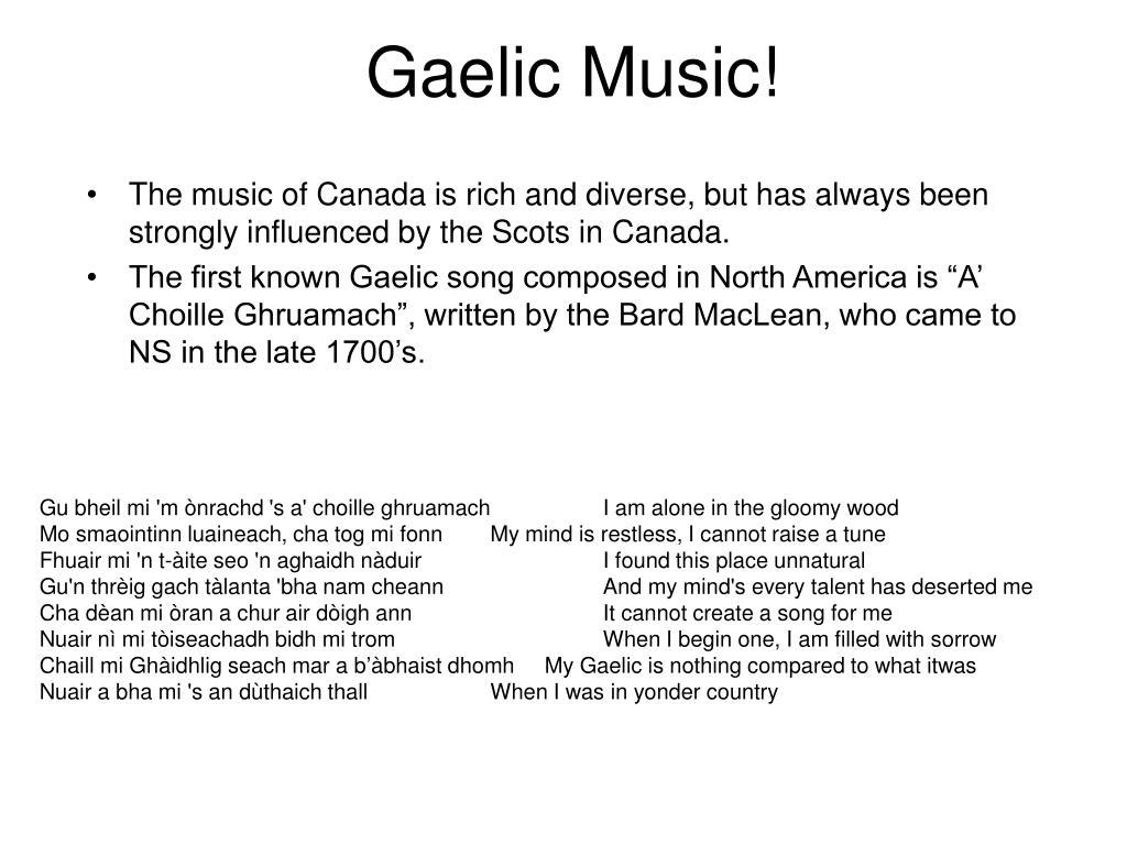 Gaelic Music!