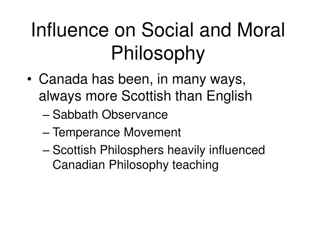 Influence on Social and Moral Philosophy