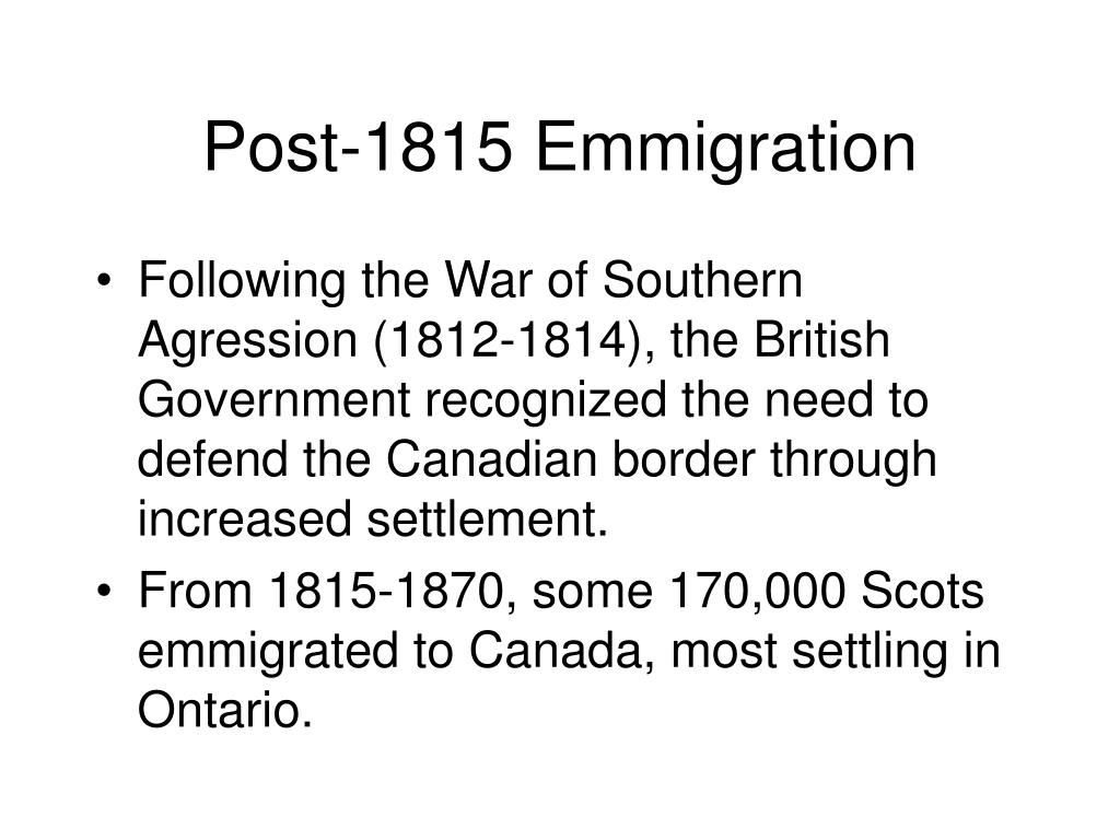 Post-1815 Emmigration