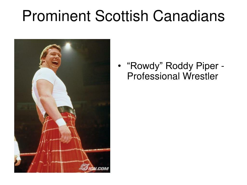 Prominent Scottish Canadians