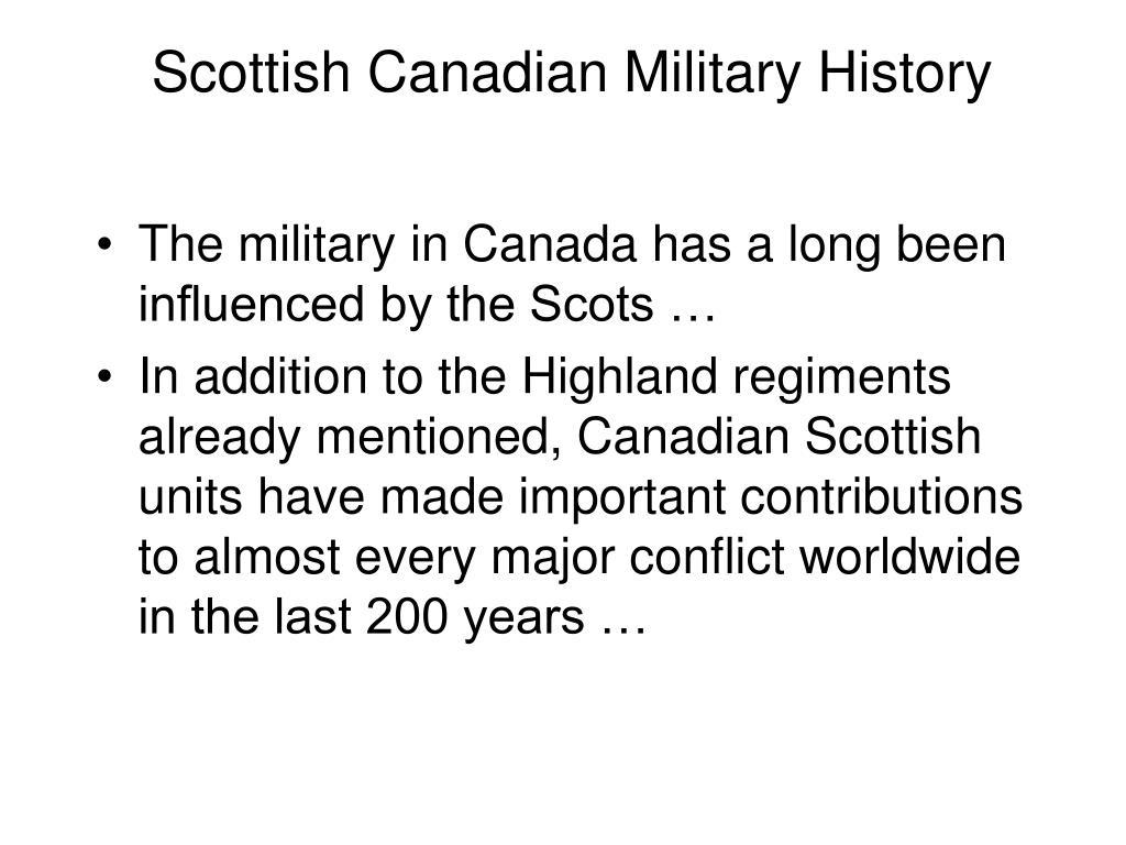 Scottish Canadian Military History