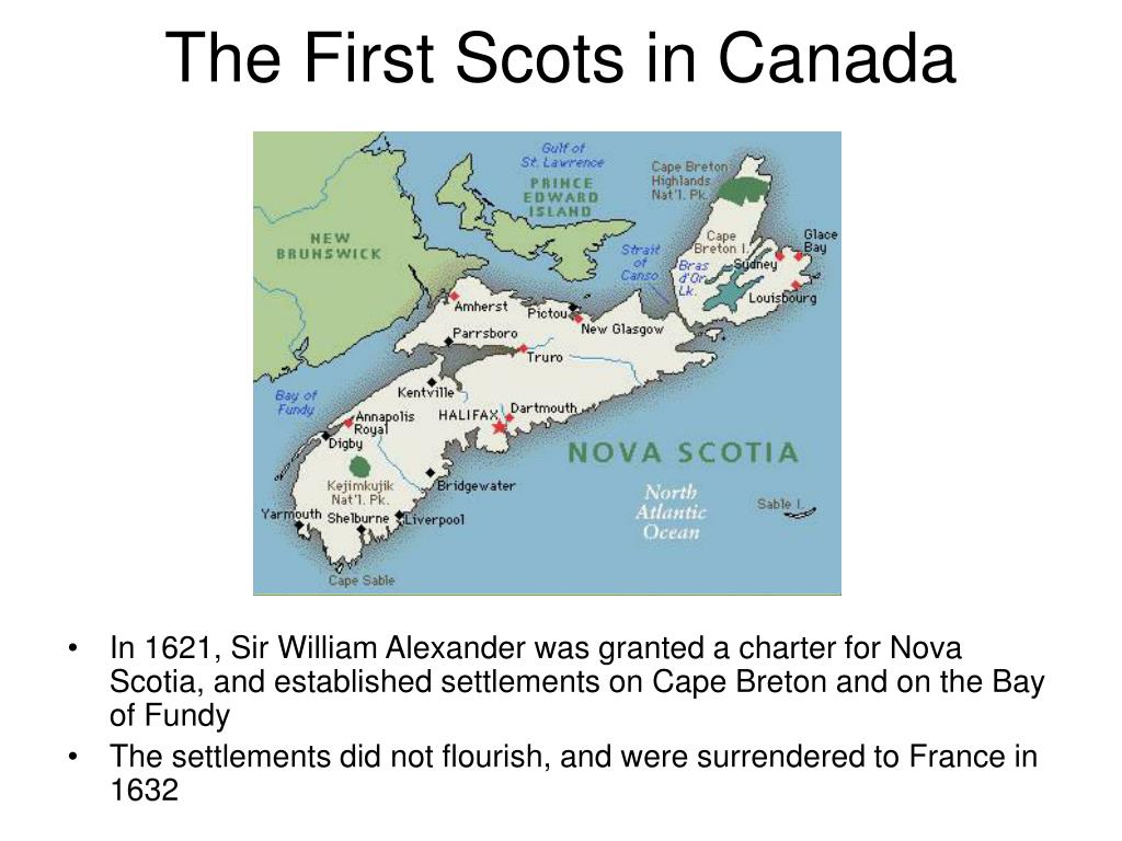 The First Scots in Canada