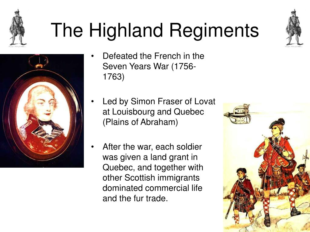 The Highland Regiments