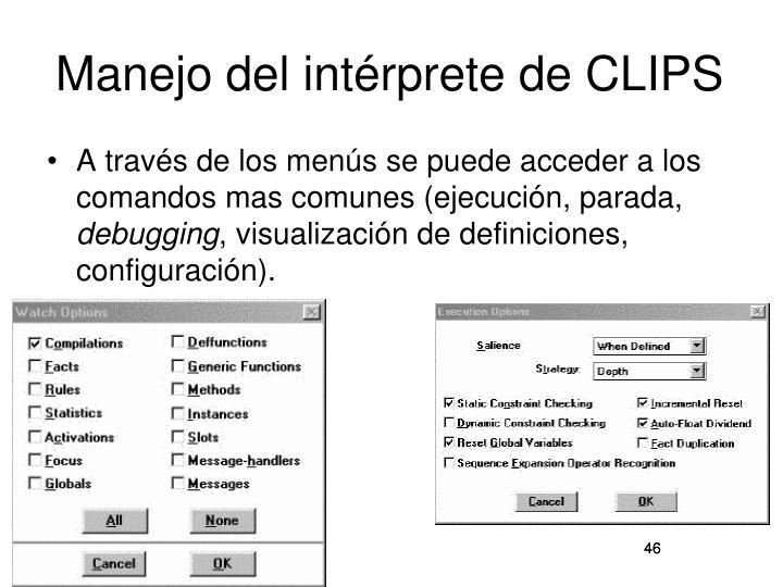 Manejo del intérprete de CLIPS
