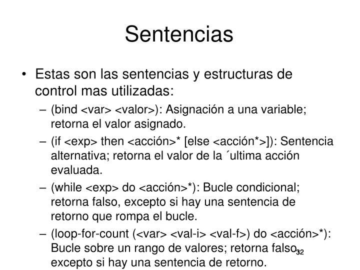 Sentencias