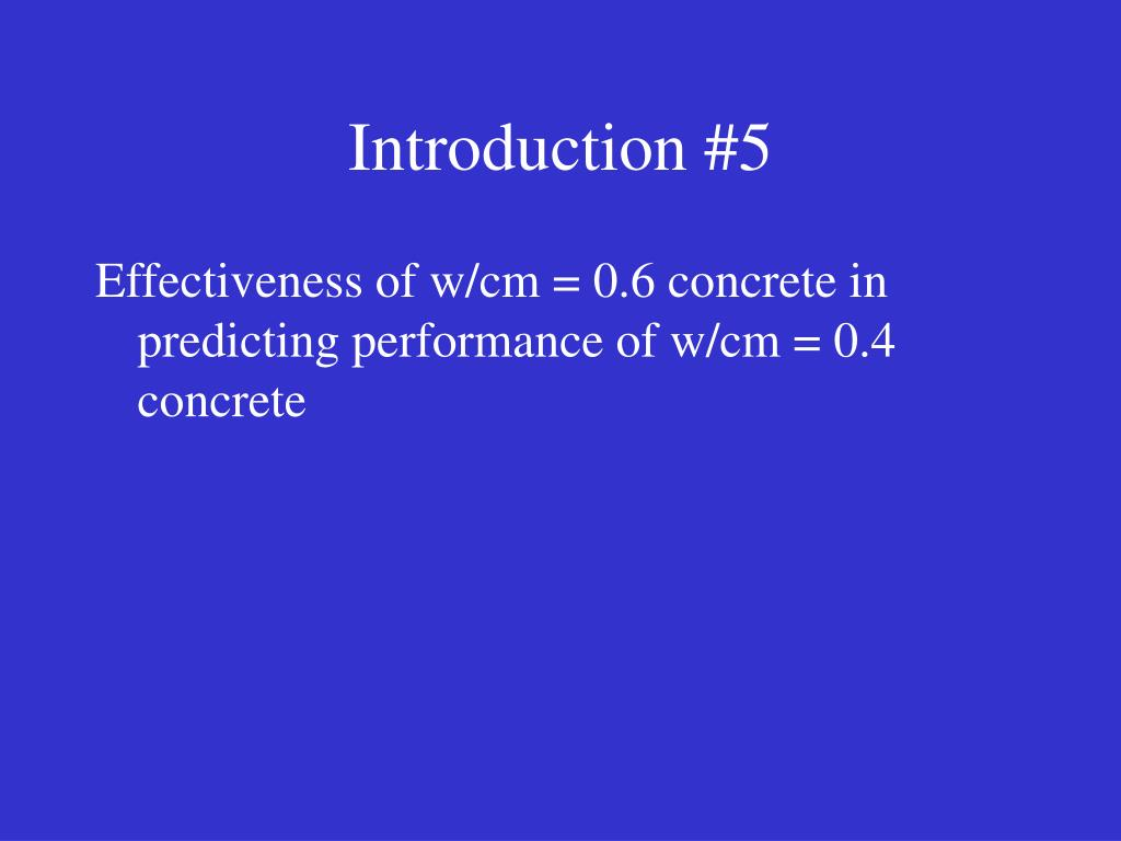 Introduction #5