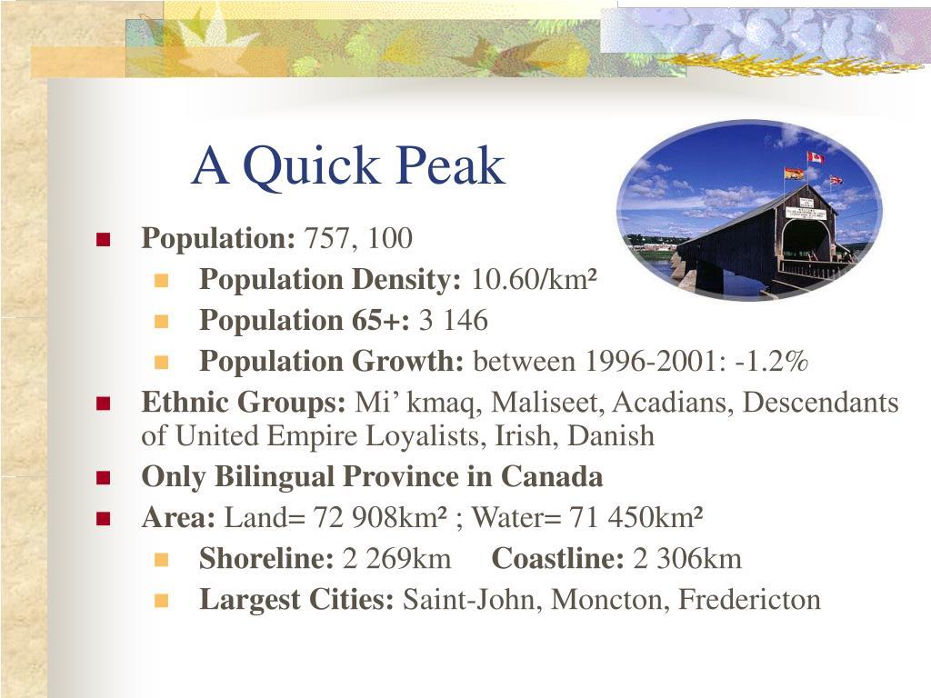 A Quick Peak