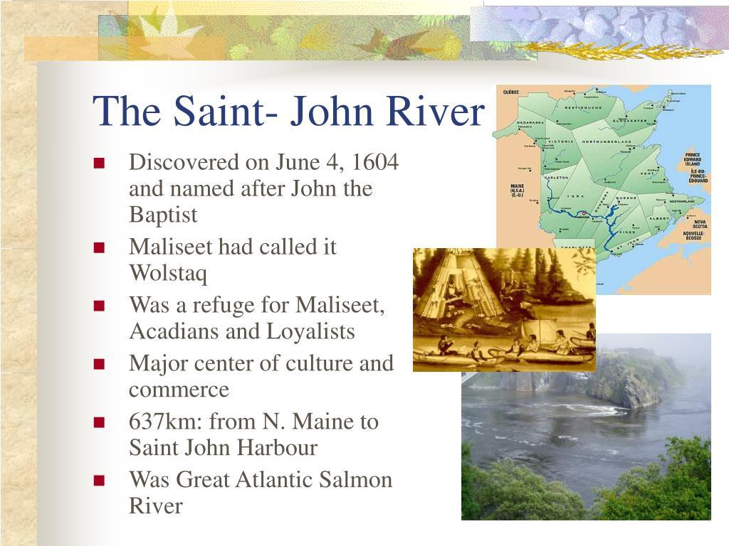 The Saint- John River
