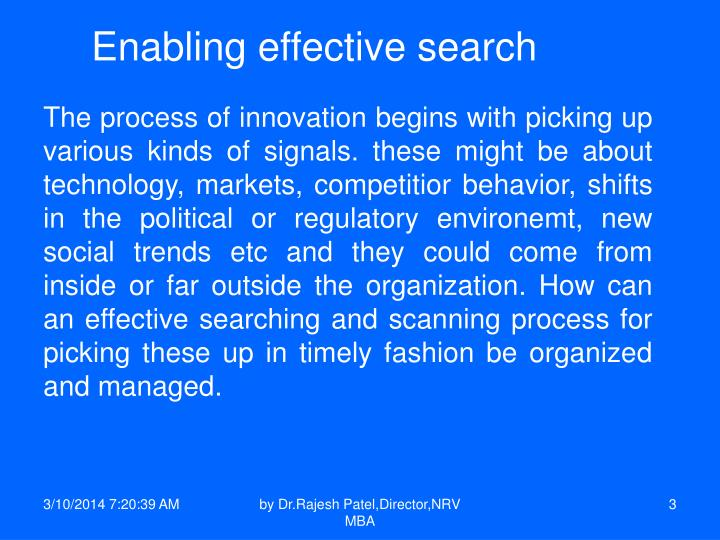Enabling effective search