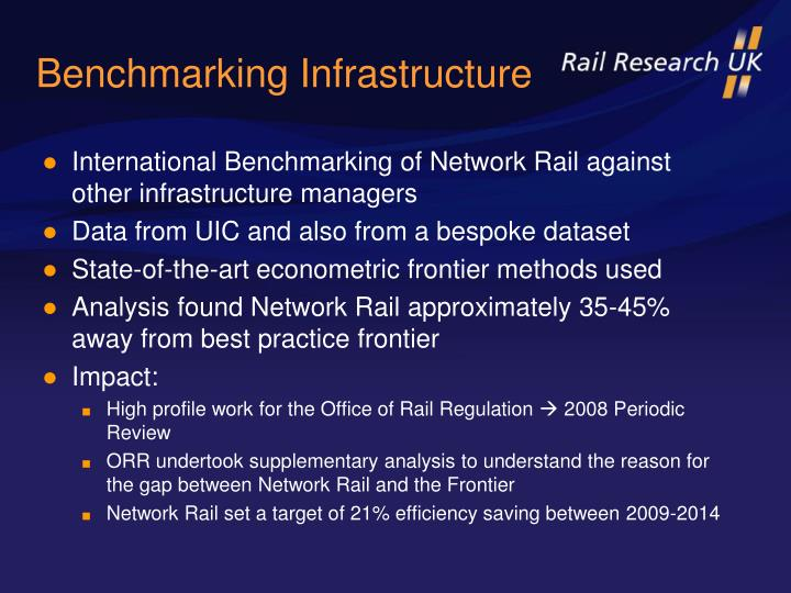 Benchmarking Infrastructure