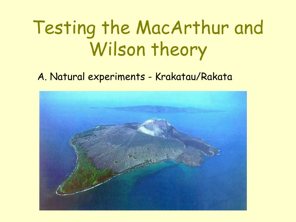Testing the MacArthur and Wilson theory