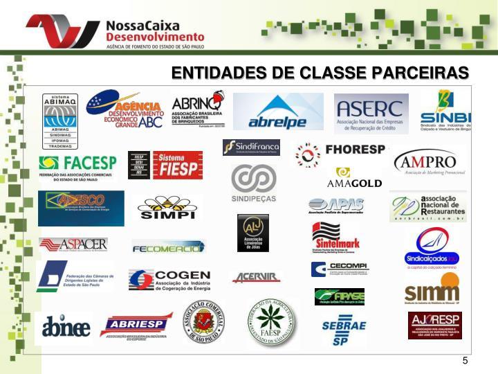 ENTIDADES DE CLASSE PARCEIRAS