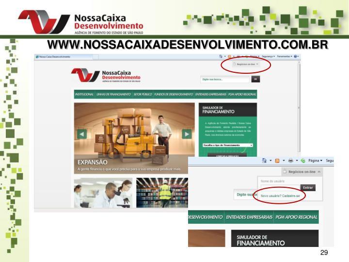 WWW.NOSSACAIXADESENVOLVIMENTO.COM.BR