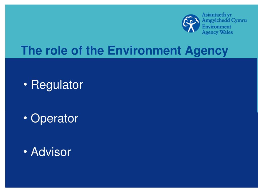 The role of the Environment Agency