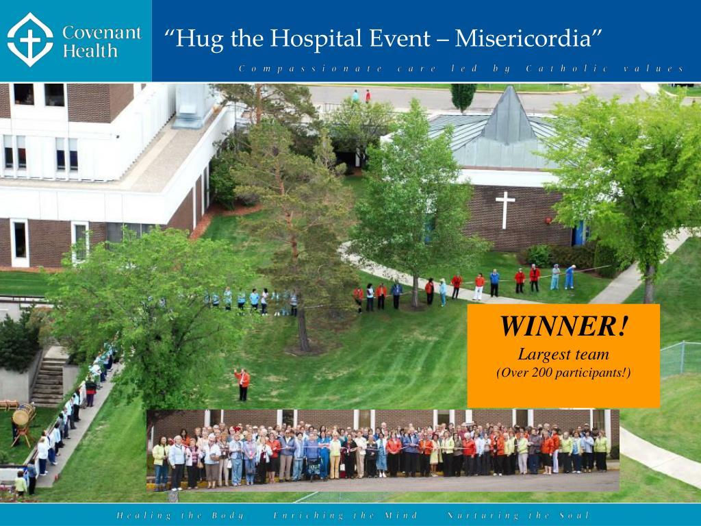 """""""Hug the Hospital Event – Misericordia"""""""
