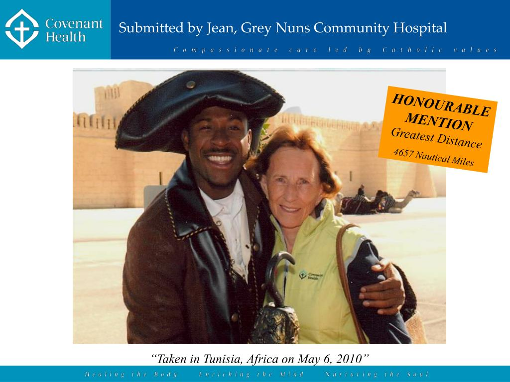 Submitted by Jean, Grey Nuns Community Hospital