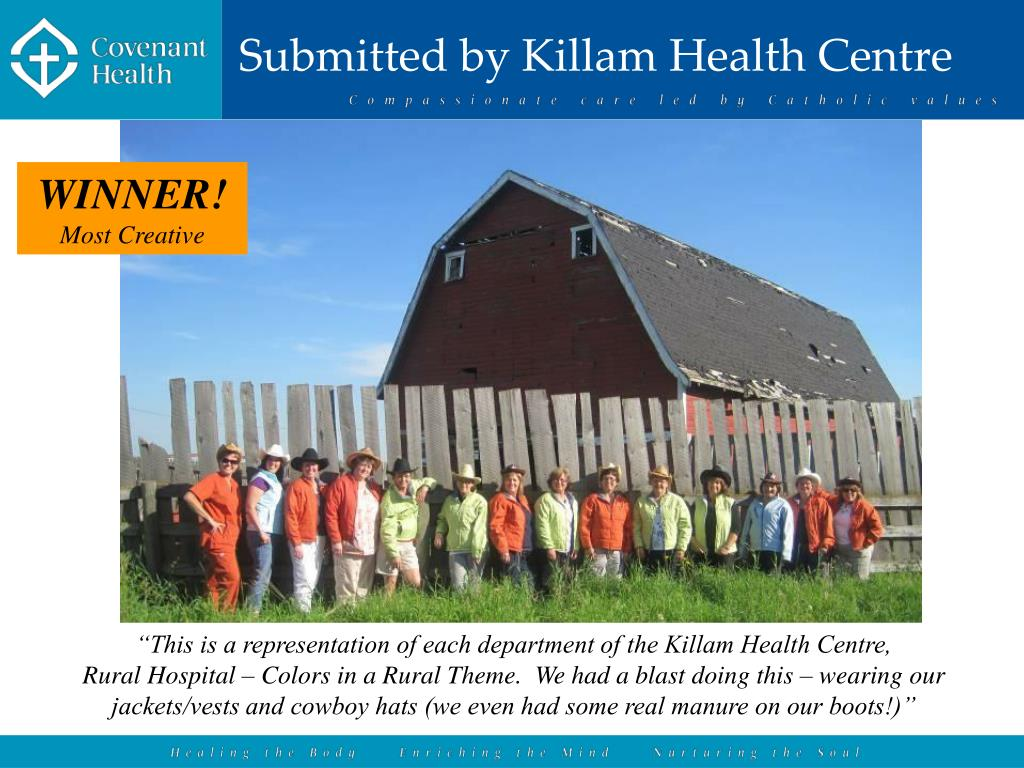 Submitted by Killam Health Centre