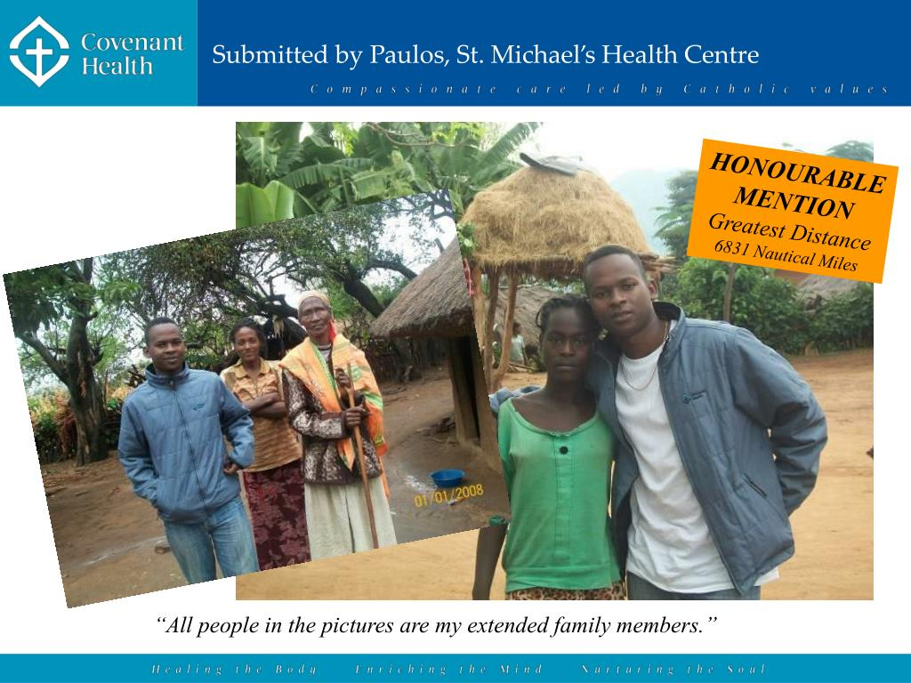 Submitted by Paulos, St. Michael's Health Centre