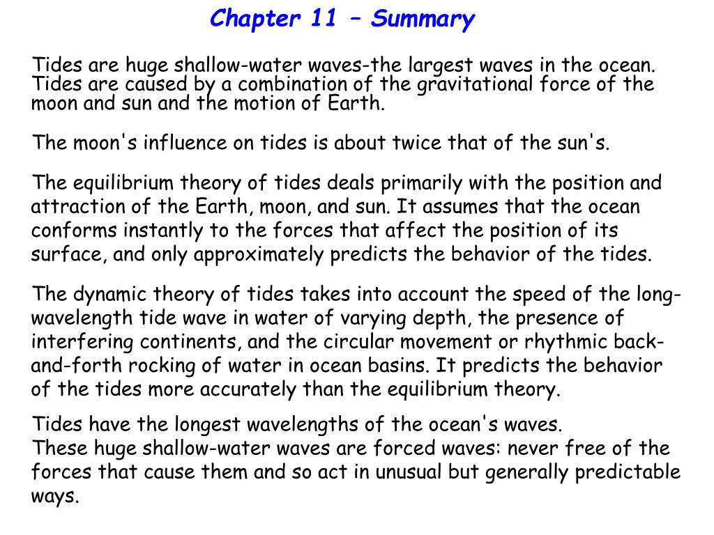 Chapter 11 – Summary