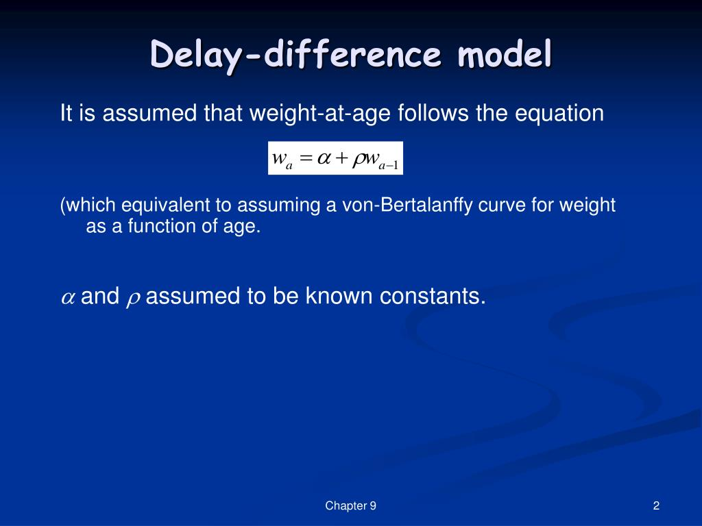 Delay-difference model