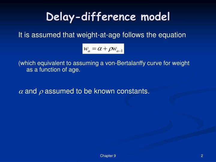 Delay difference model