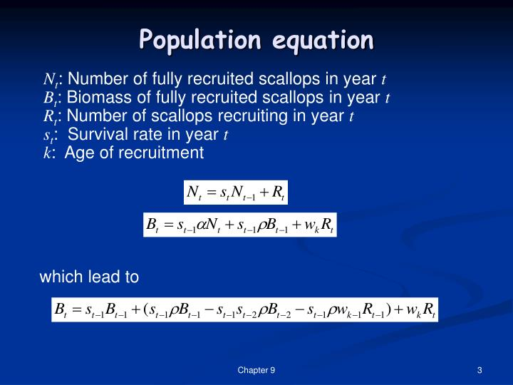 Population equation