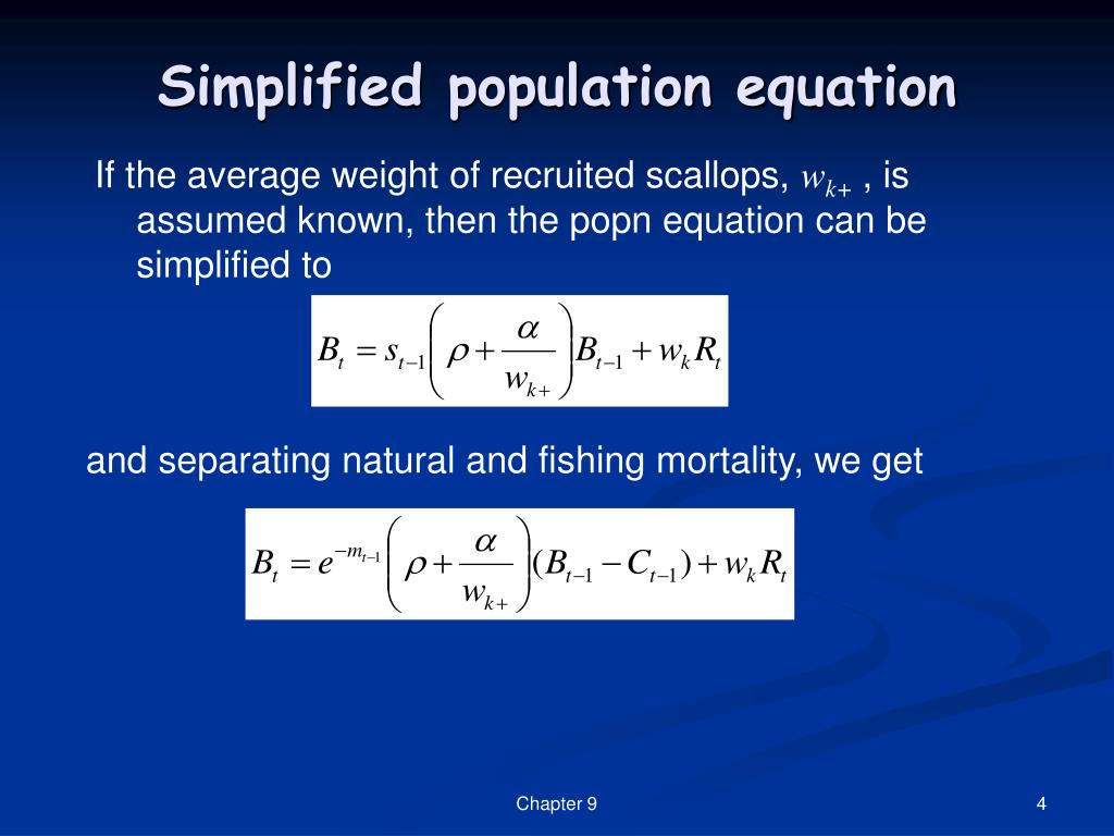 Simplified population equation