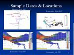 sample dates locations