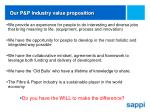 our p p industry value proposition
