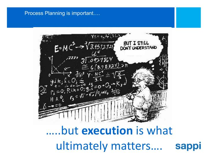 Process Planning is important….