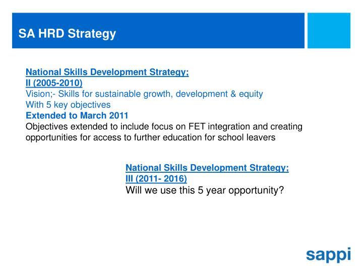 SA HRD Strategy