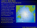international tsunami warning system