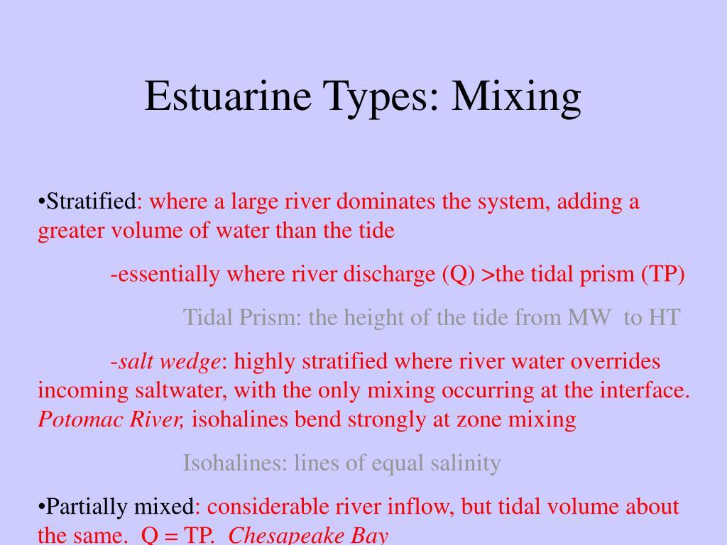 Estuarine Types: Mixing