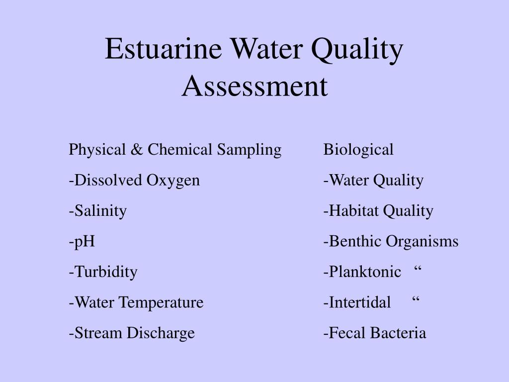 Estuarine Water Quality Assessment