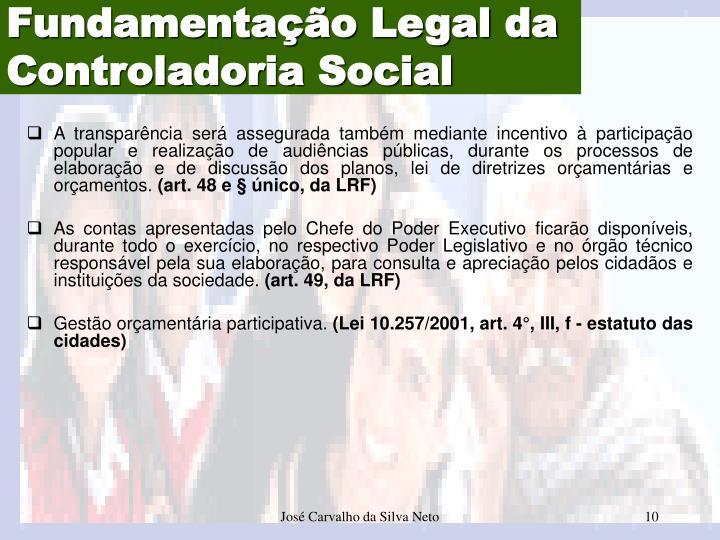 Fundamentação Legal da
