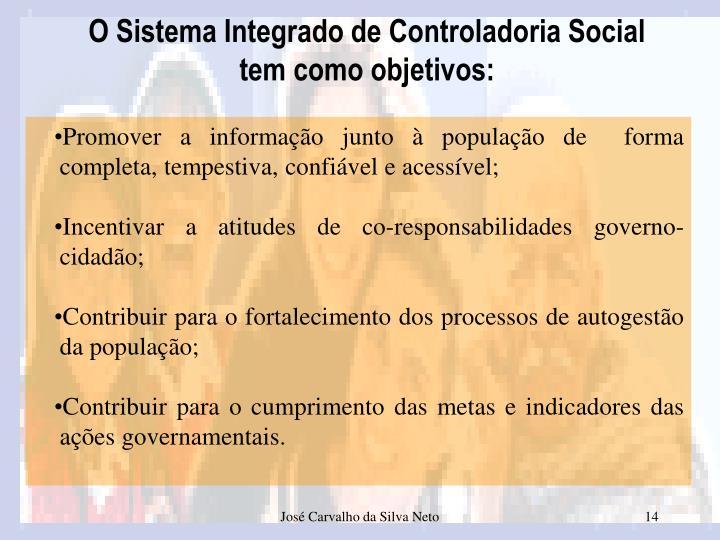 O Sistema Integrado de Controladoria Social