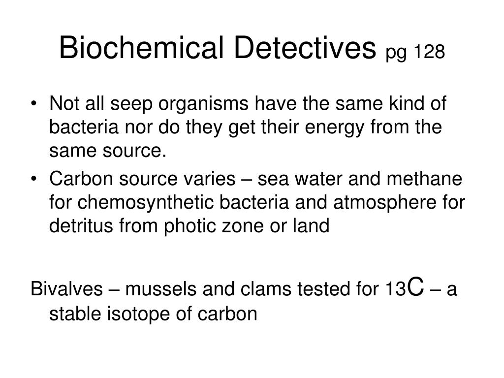 Biochemical Detectives