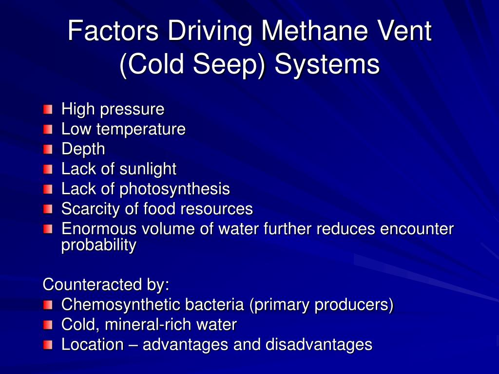 Factors Driving Methane Vent