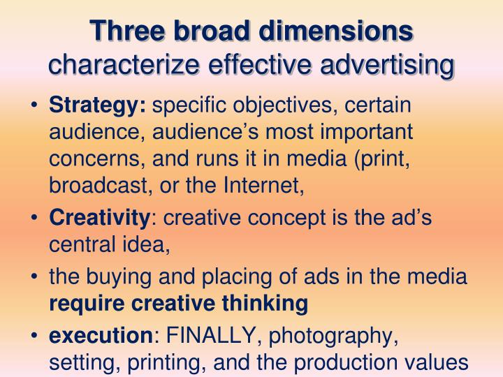 Three broad dimensions