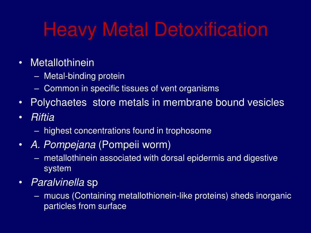 Heavy Metal Detoxification