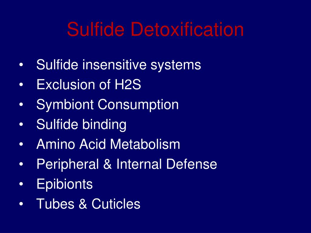 Sulfide Detoxification