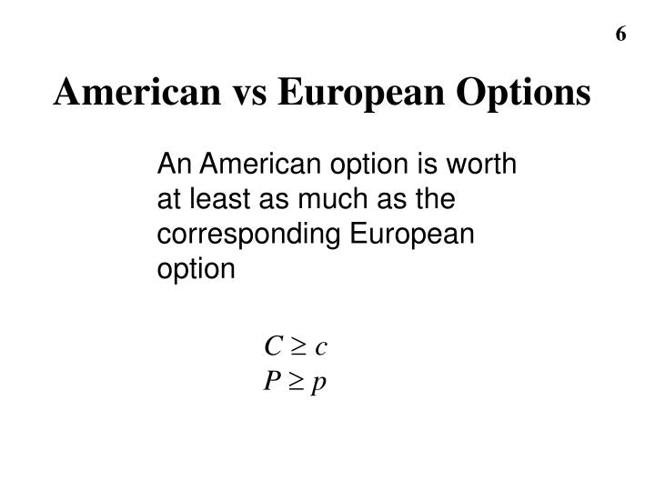 American vs European Options