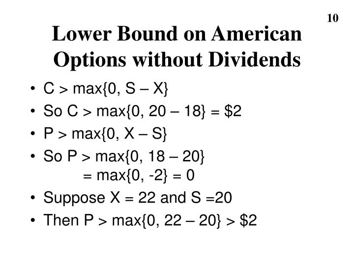 Lower Bound on American
