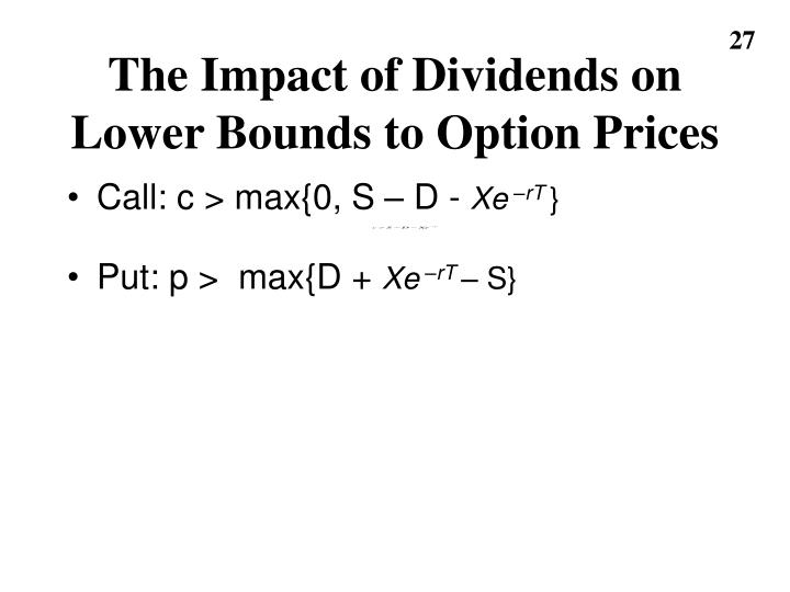 The Impact of Dividends on Lower Bounds to Option Prices