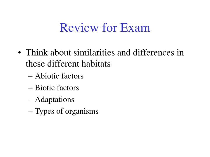 Review for exam2