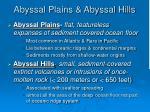 abyssal plains abyssal hills